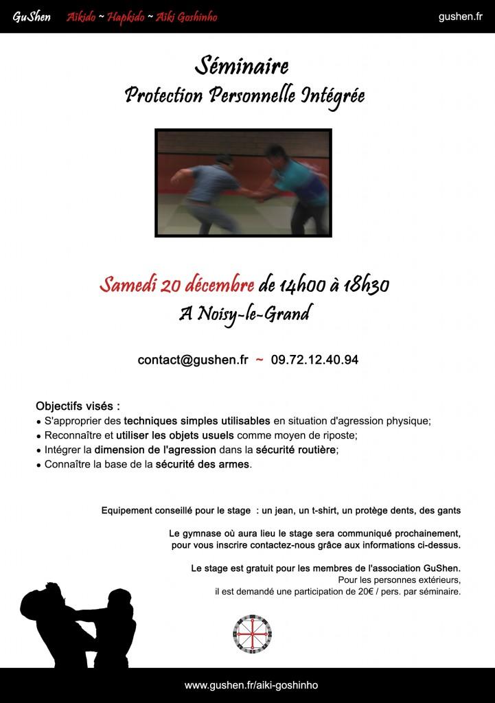 séminaire de protection personnelle intégrée. 20/12/2014